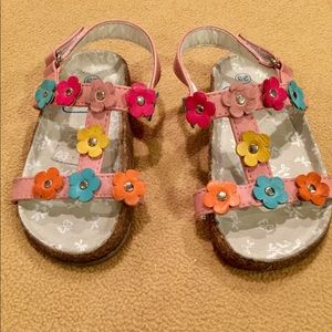 GUC Euro 23 US 7 Kids Seaside Pink Flower Sandals